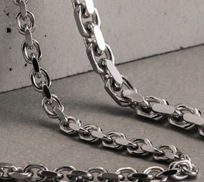 Sterling Silver Anchor Chain Necklaces