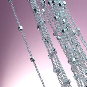Sterling Silver Beaded Bobble Chain  Necklaces