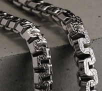 Sterling Silver Greek Box Chain Necklaces